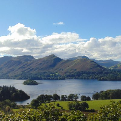 View of Derwentwater and Catbells from Castlehead, Keswick